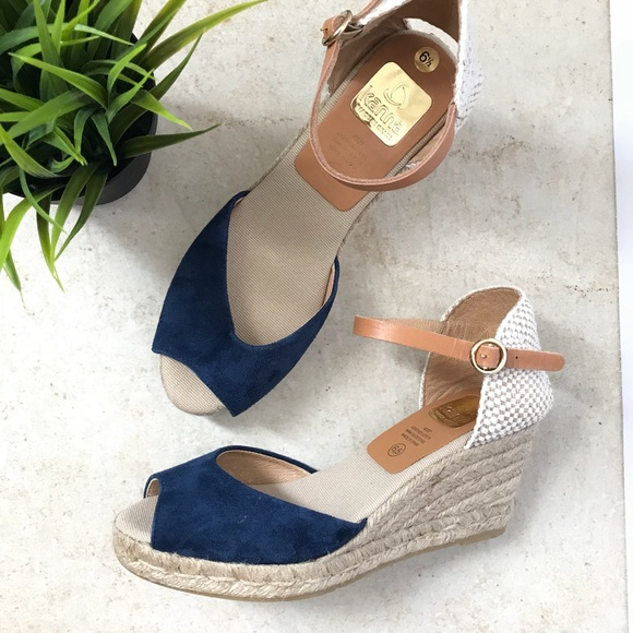 1a14f6d346df Kanna Shoes - Kanna Espadrille Wedge Sandals Suede Made in Spain